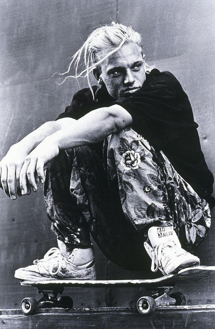 Natas Kaupus, a skateboarder famous for pushing the street skate scene in the 80′s.