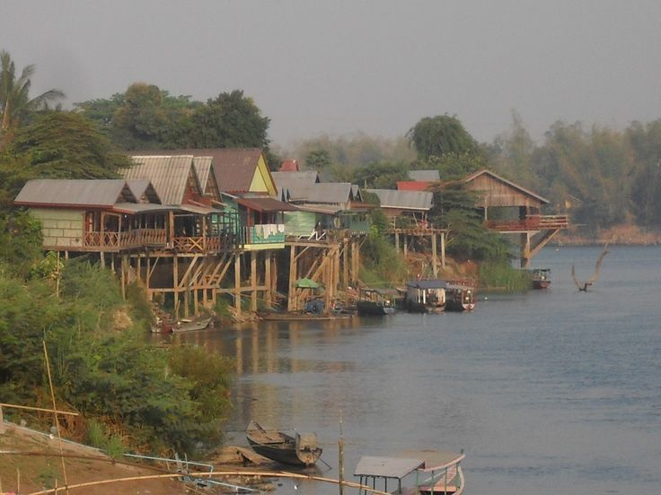 View over the Mekong river from Don Det.  #DonDet #Mekong #Laos #Backpacking