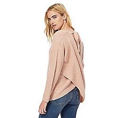 Nine by Savannah Miller - Light pink wrap jumper