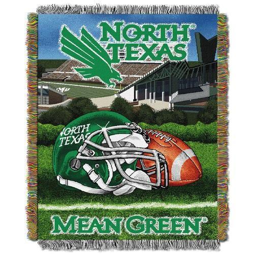 University of North Texas Throw Blanket Afghan Tapestry