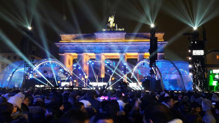 Silvester 2016-2017 een geweldig feest bij de Brandenburger Tor