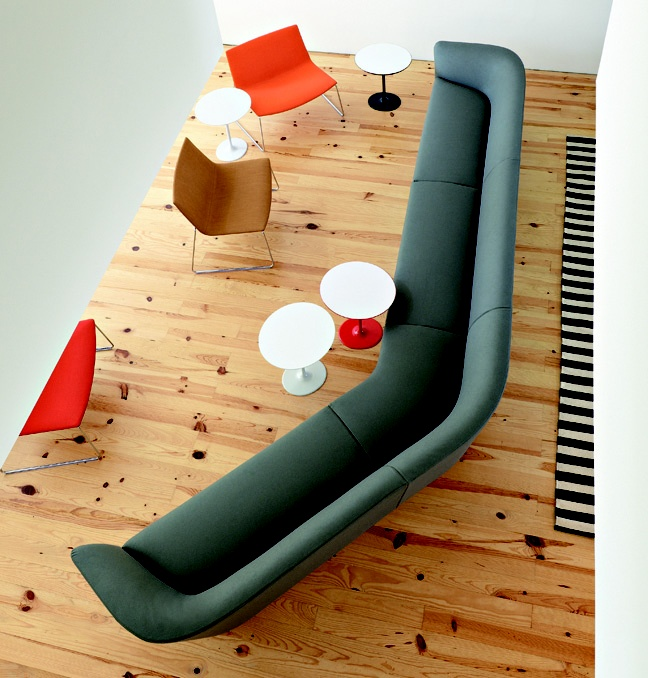 Loop sofa, Catifa lounge chairs and Dizzie side tables from Arper