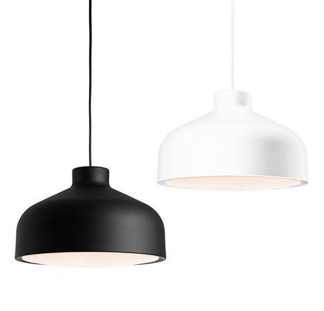 Lens taklampa stor - svart - Zero Interiör