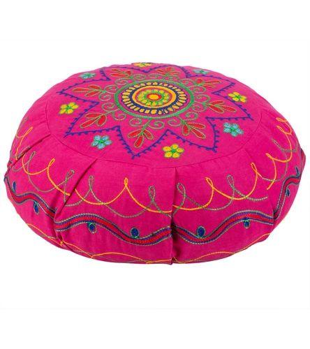 Barefoot Yoga Mandala Embroidered Zafu Yoga Meditation Cushion. Great meditation cushion, it is high quality and affordable.