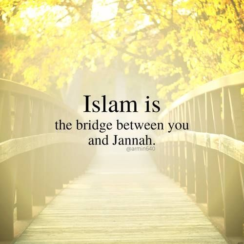 What a beautiful bridge to be on!  #Islam #Jannah #Quotes