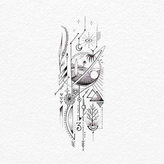 Visualarts Graphics Image Tattoo Sketch Black And White Line Art Illustra Visualarts Gr Geometric Tattoo Design Geometric Tattoo Tattoo Sketches