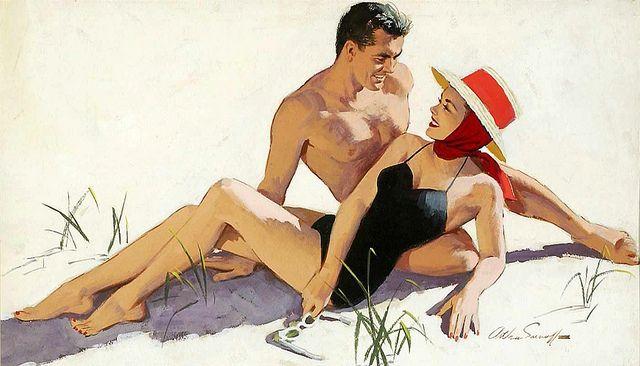Love on the beach...Arthur Sarnoff