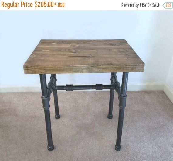 10% OFF Industrial Side Table End Table Pipe by TheCleverRaven                                                                                                                                                                                 More