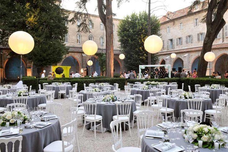 Balloon lighting for a luxury wedding.