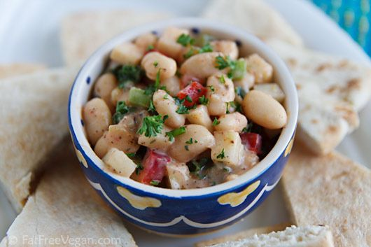 A twist on a traditional Middle Eastern dish, this recipe substitutes white beans for chickpeas and incorporates exotic za'tar spice and cruncy kohlrabi.