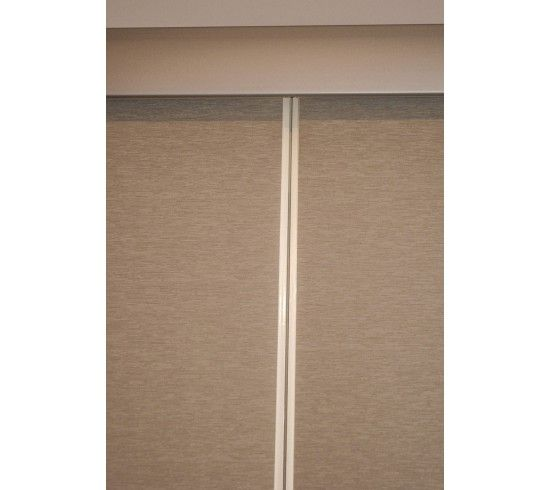 Linking Roller Blinds - see the minimal gap between the blinds.  Finished with a common pelmet