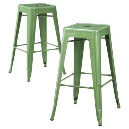 @Lauren Harvey are these too too green?  seen them in person?  marked down, wondered how sharp green is in person....Carlisle Metal Bar Stool - Set of 2