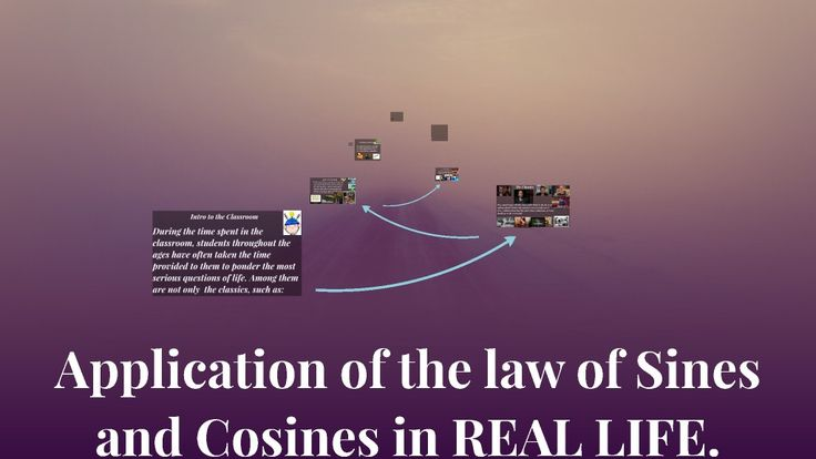 Application of the law of Sines and Cosines in REAL LIFE.