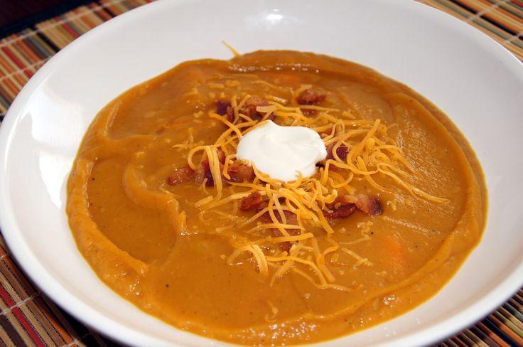 Little Bit of Everything: Loaded Sweet Potato Soup - SRC
