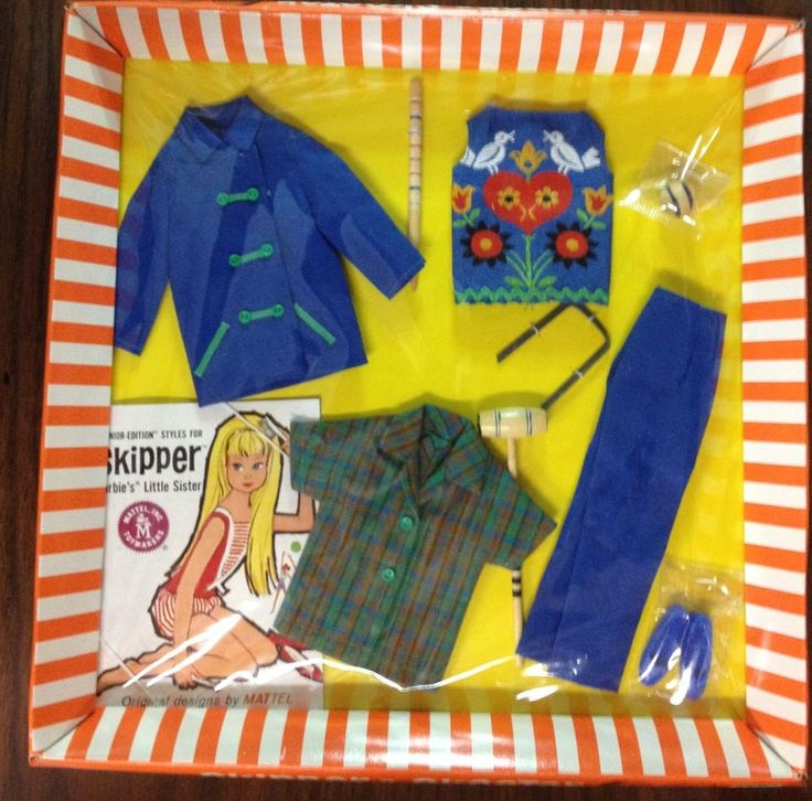 "Vintage Barbie Skipper"" Fun Time"" #1920  outfit  NIB   1965"