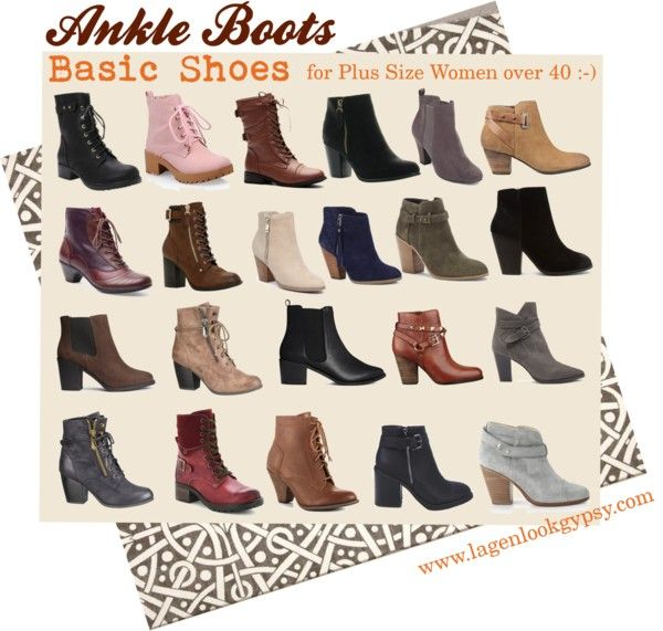 Basic Shoes for Plus Sizes over 40 - Ankle Boots