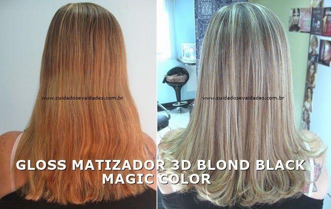 Cabelos alaranjados ou amarelados - Gloss Matizador 3D Blond Black Magic Color - Cuidados e Vaidades http://www.cuidadosevaidades.com.br/2014/04/cabelos-alaranjados-ou-amarelados-gloss.html