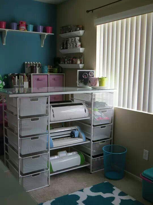 Elfa Container Store Craft Room Ideas Pinterest