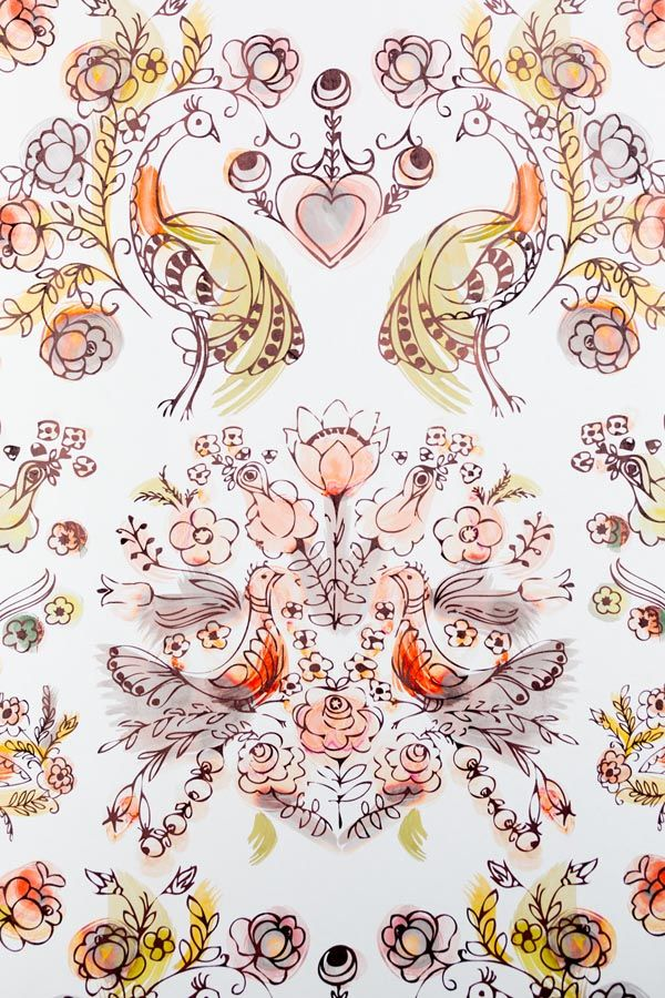 'Briar Rose Rust' by textile design house Sixhands - via thedesignfiles.net