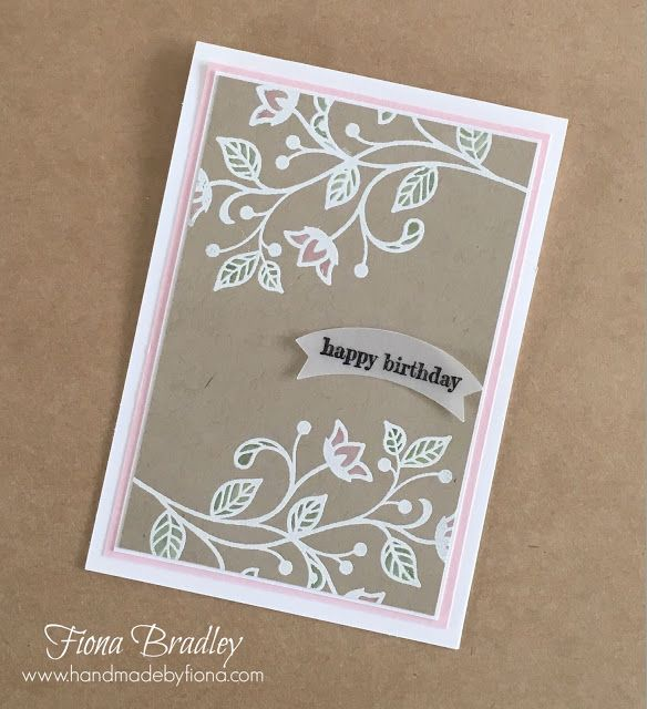 Video Tutorial - Flourishing Phrases - Happy Birthday - Colouring on Crumb Cake - Stampin' Up! - Fiona Bradley