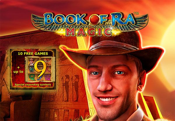 Book Of Ra Magic Online With 10 Free Spins Up To 9 Symbols