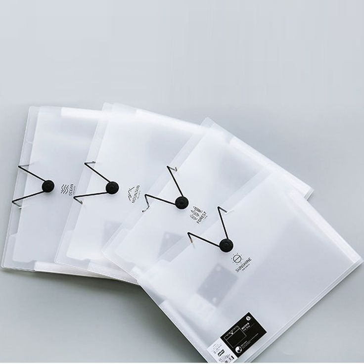 MEIKENG Korean Simple PP Translucent Folder 5Design Interlayers Elastic Closure Folder Size Approximately 325*245MM