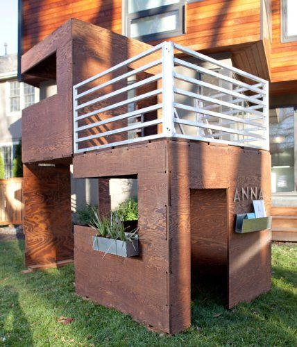 Modern play houses- they can go inside or outside, there are a ton of different modular combinations, and you can use them as loft beds. Oh, and they're also eco-friendly :)