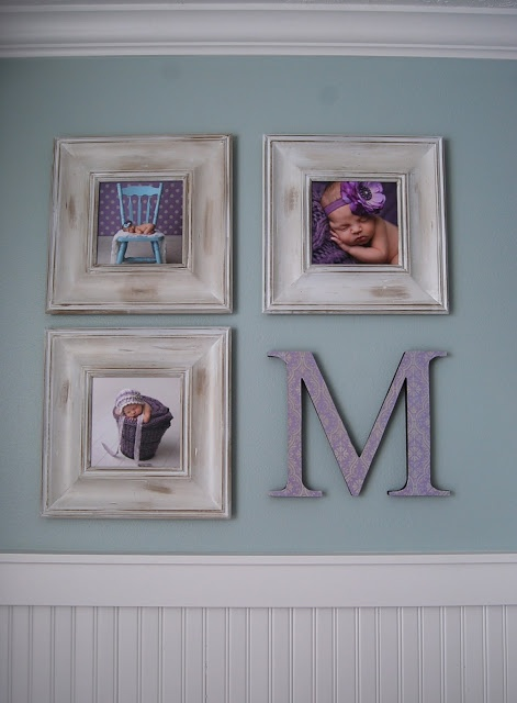 use this idea in guest room with grandkids' baby pictures