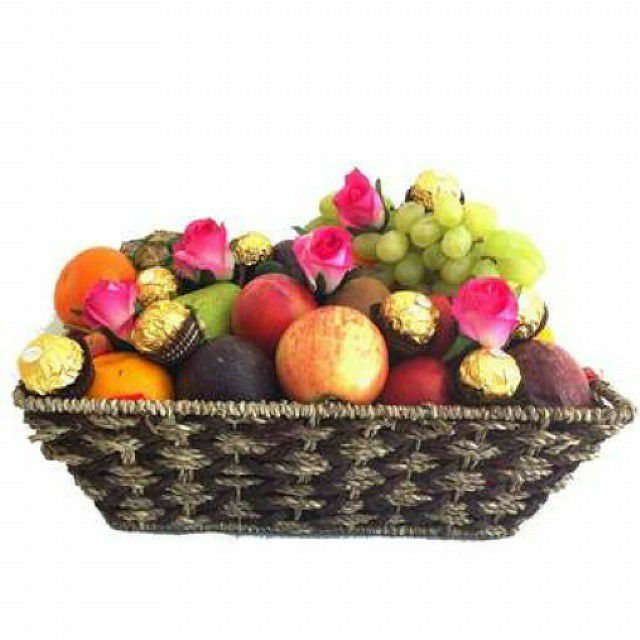 16 best special gifts for men images on pinterest fruit gift gift baskets ferrero chocolates pink silk roses delivered free made of natural seagrass and filled with seasonal fruits negle Image collections