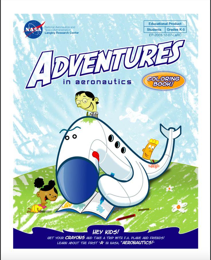 Adventures In Aeronautics Coloring Book PDF Elementary Students Grades K 5 Can