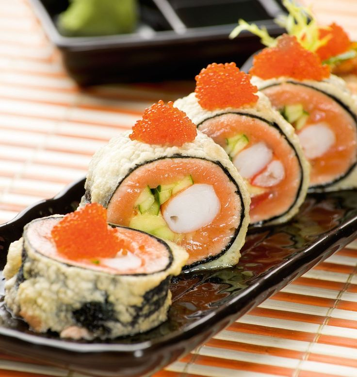 Tiger Eye (Salmon and Shrimp Sushi Roll Without Rice ...