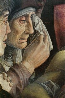 The Lamentation over the Dead Christ, Andrea Mantegna; the painting is now in the Pinacoteca di Brera of #Milan, Italy