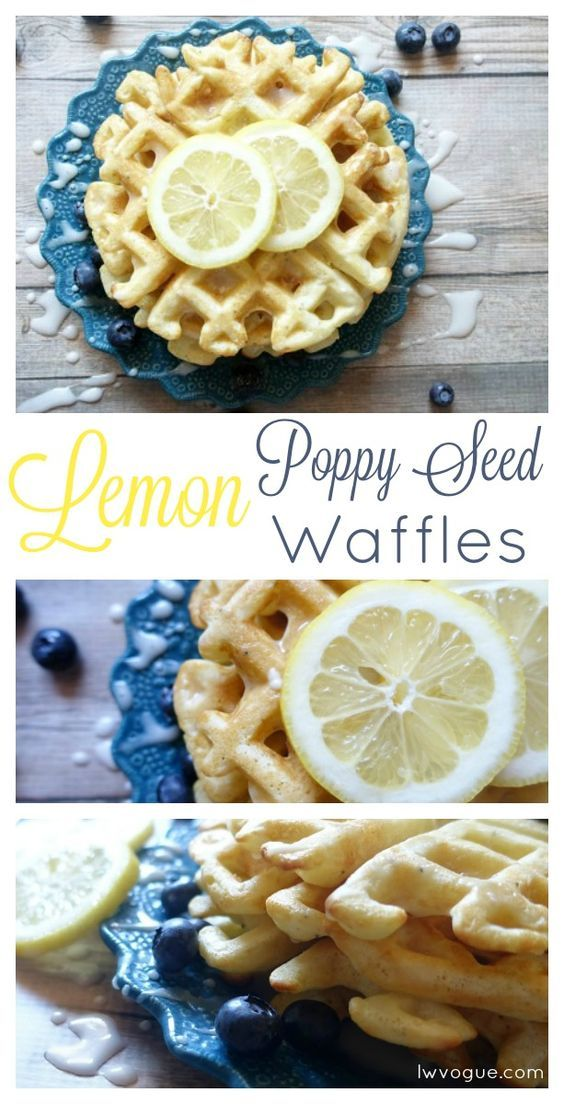 Homemade Lemon Poppy Seed Waffles with lemon glaze is my favorite waffle recipe of all time! This easy breakfast is sure to be a family favorite.