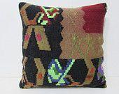 20x20 kilim pillow 20x20 large kilim pillow 50x50 cushion cover large pillow case oversized cushion large cushion cover black pillows 27148