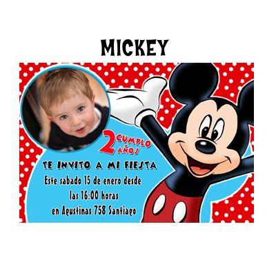 invitaciòn mickey