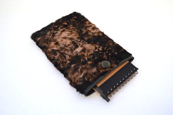 Real fur tablet case Samsung tablet 7case real fur sleeve by BeFur