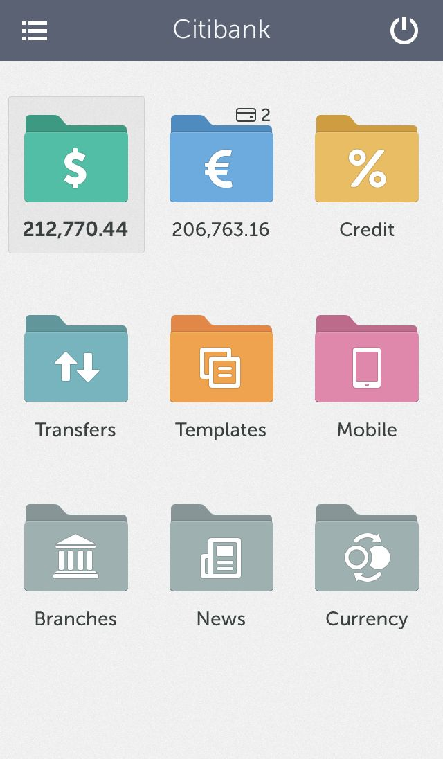 Concept idea of banking app / Cuberto