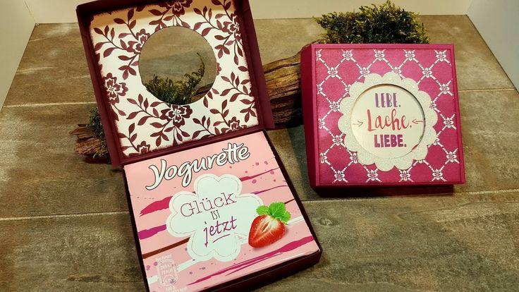 Anleitung: Pizzaschachtel für 4-er-Yogurette-Tafel mit Stampin'Up!-Produ...