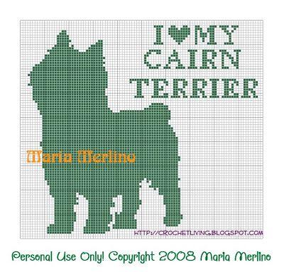 Crochet Living: I Love My Cairn Terrier Crochet Chart or Graph!