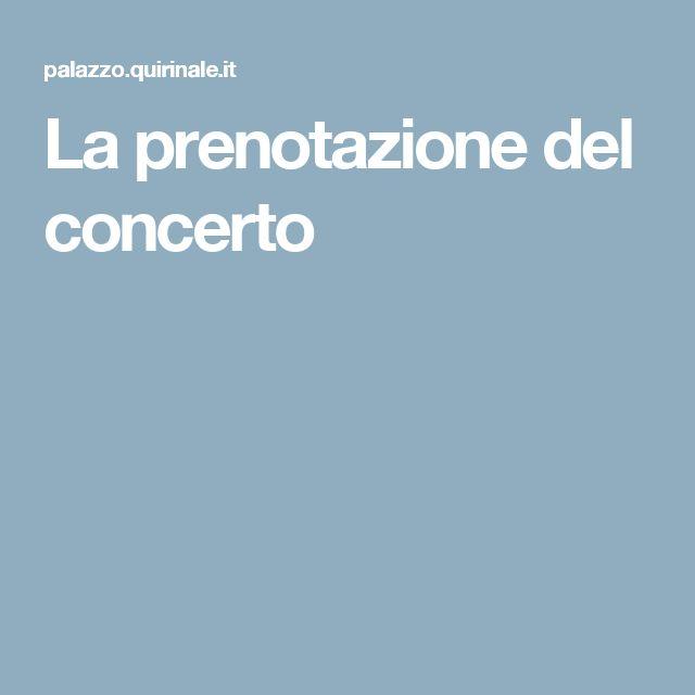 La prenotazione del concerto