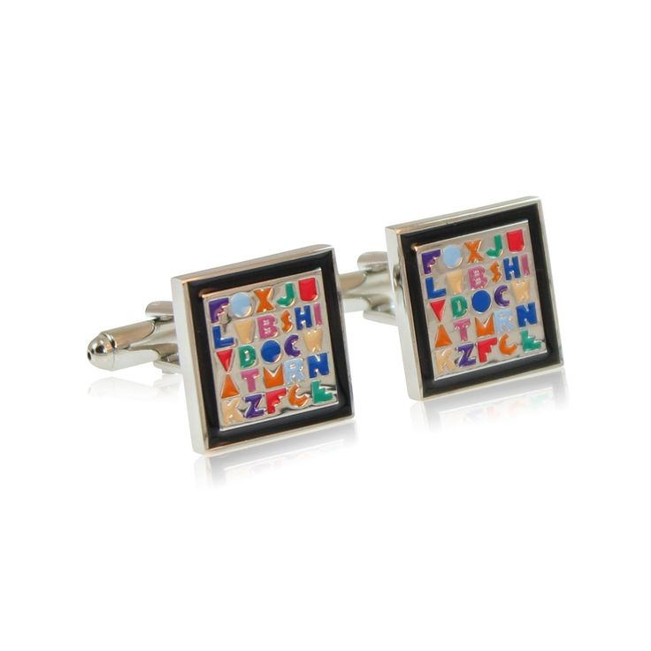 The ABC for Power Mums is a fun design for the kid inside. A popular gift for teachers, the pair is skillfully finished with a lot of attention to detail.   Our cufflinks are made from solid brass with rhodium plating and hand enamelled. The rhodium ensures a tarnish-free appearance unlike similar cufflinks made from nickel or sterling silver.   http://www.byariane.com.au/Cufflinks-ABC