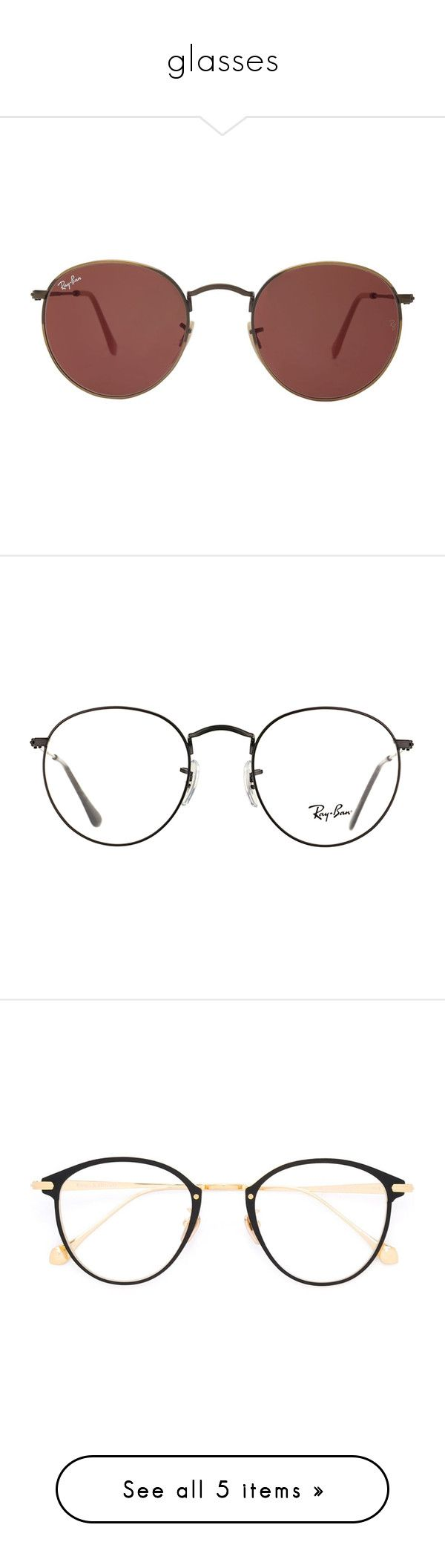 """""""glasses"""" by julianaunicors on Polyvore featuring accessories, eyewear, sunglasses, glasses, jewelry, round frame sunglasses, gold lens sunglasses, gold round sunglasses, gold glasses e vintage round sunglasses"""