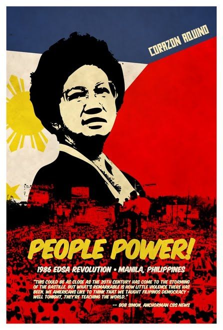 Corazon Aquino led the People Power Revolution of the Philippines calling for civil disobedience including a military-civilian rebellion where millions crammed the streets to protect reformist soldiers and nuns armed only with rosaries knelt in front of tanks, stopping them in their tracks, leading to the ousting of Ferdinand Marcos and her declaration as President.  Oversaw the creation of a new constitution, and established a bicameral legislature.  Emphasized civil liberties and human…