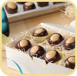 Peanut Butter Buckeyes - oh my goodness do I love buckeyes!