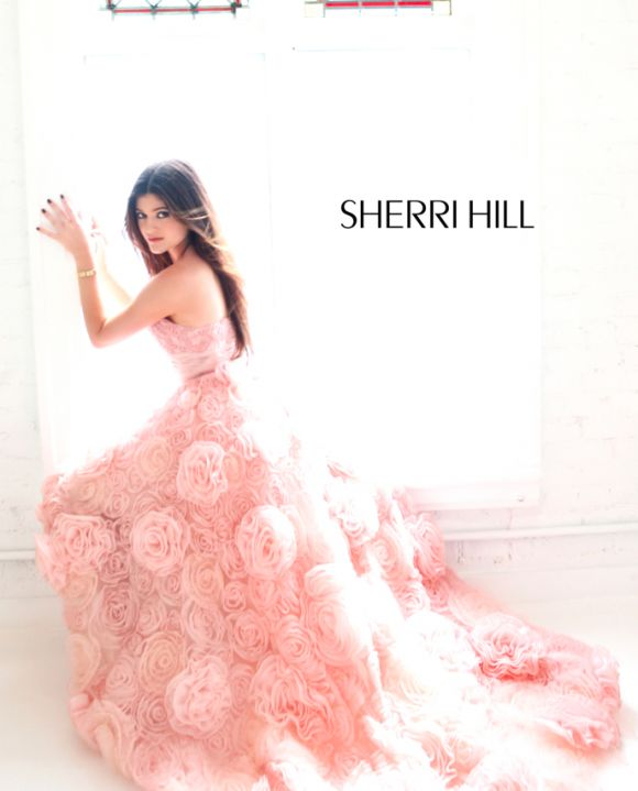 Kendall Jenner and Kylie Jenner Model Sherri Hill Spring 2013 Dress Collection. The most beautiful dress I've ever seen.