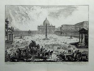 Veduta della Basilica, e Piazza di S.Pietro in Vaticano by Giovanni Battista Piranesi