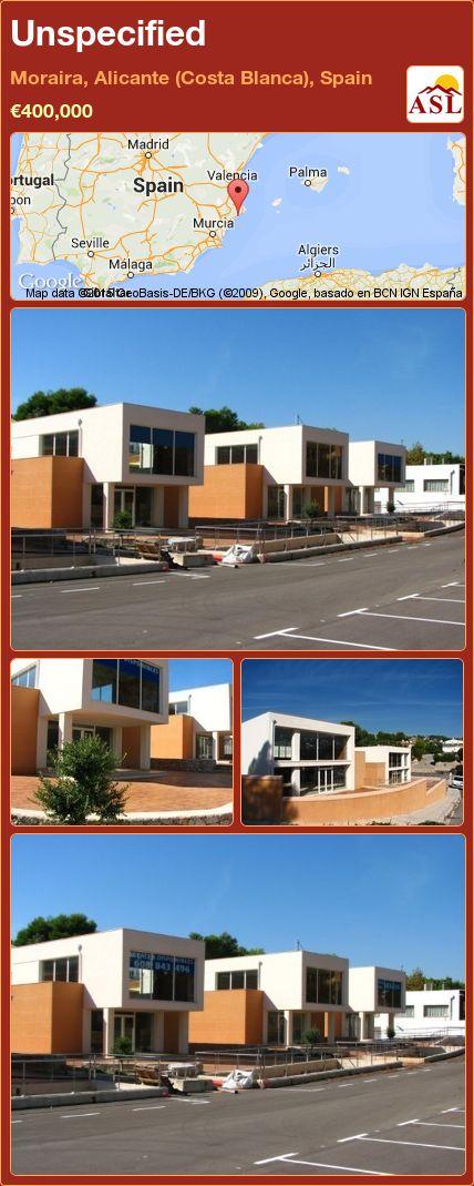 Unspecified in Moraira, Alicante (Costa Blanca), Spain ►€400,000 #PropertyForSaleInSpain