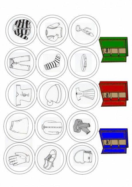 kleidung artikel zuordnen sprache deutsch kleidung unterrichten und deutsch lernen f r. Black Bedroom Furniture Sets. Home Design Ideas