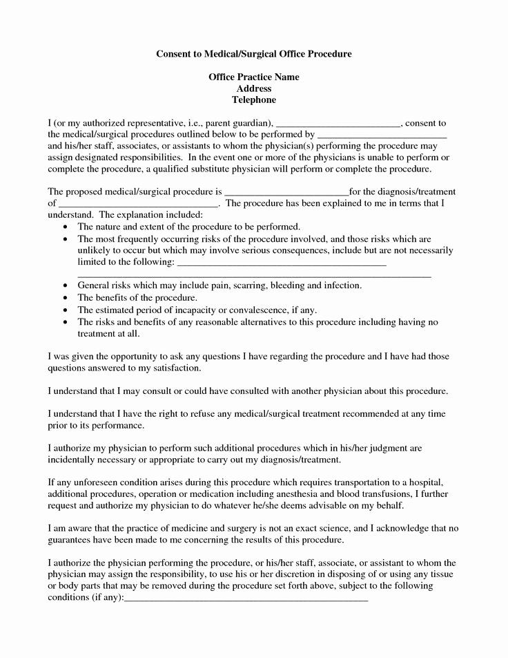 Medical Procedure Consent Form Template Fresh Medical Procedure Consent Form Template Peterainsworth In 2021 Consent Forms Consent Teacher Resume Template