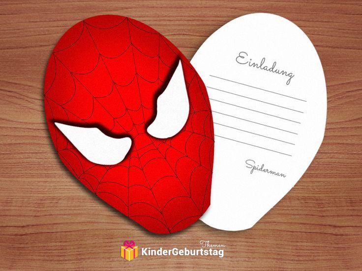 Spiderman Einladungskarten: kostenlose Vorlagen der Einladungen zum Ausdrucken